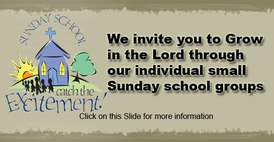 Check out Sunday School!