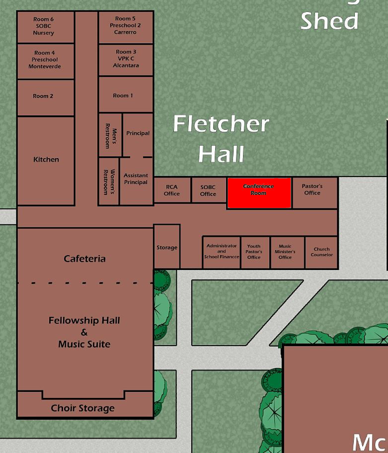 Fletcher Hall Conference Room Highlighted